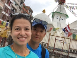 Selfie with a stupa