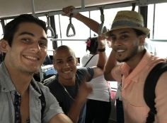 Fresh off the plane in Cuba with good friends Chris and Omar.