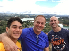In Colombia with my dad and good friend Scott